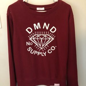 Authentic Woman's Diamond Supply Co Red Hoodie
